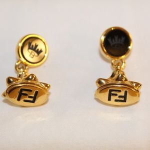 Vintage Fendi Drop Earrings